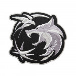 Witcher Wolf Logo Embroidery Sleeve Sew-on / Iron-on / Velcro Patch