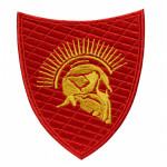 Spartan warrior embroidered red embroidery 300 Spartans sew-on patch