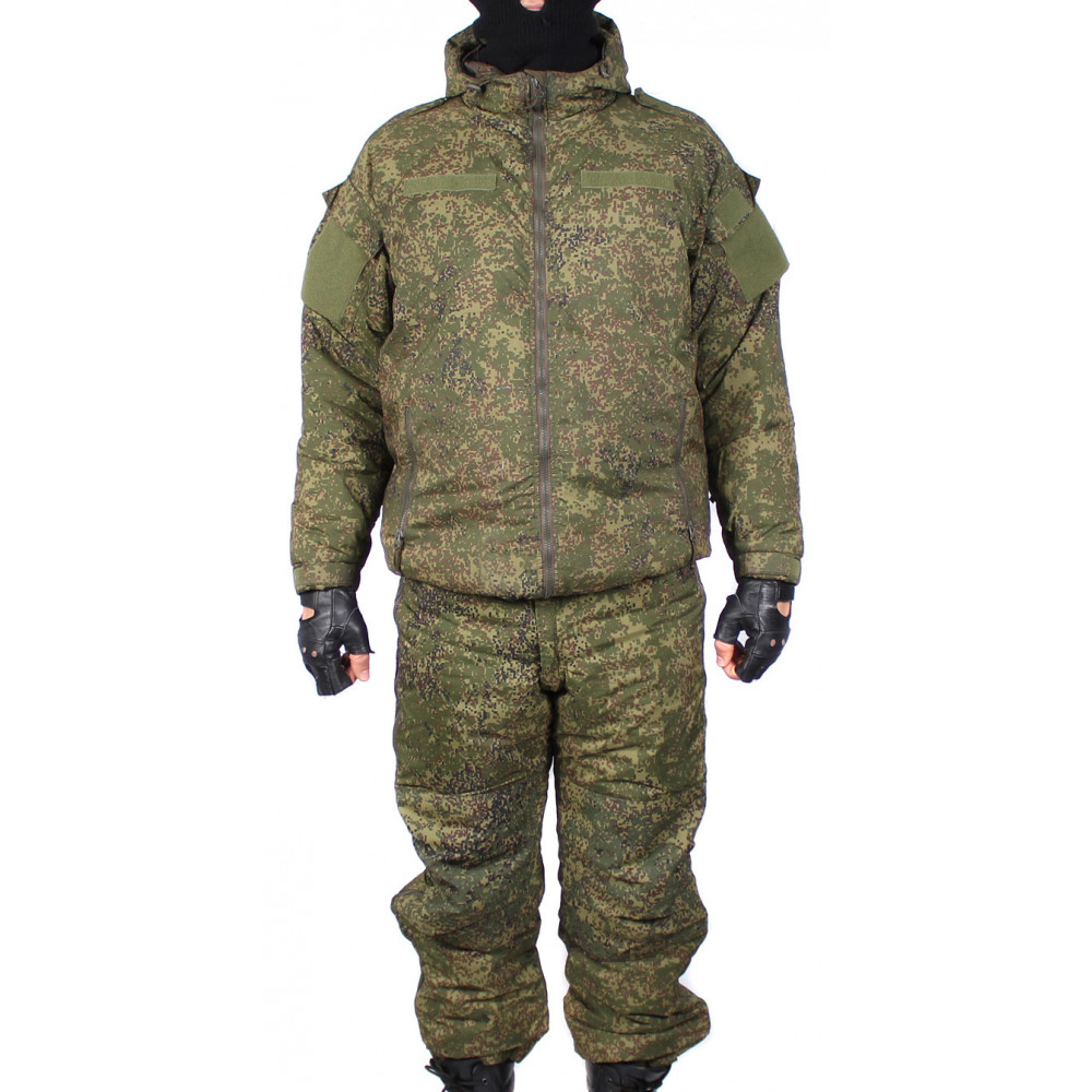 "Russian tactical warm winter airsoft uniform ""vkbo"" pixel camo"